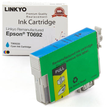 LINKYO Replacement Cyan Ink Cartridge for Epson 69 (T069220)