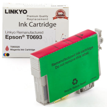 LINKYO Replacement Magenta Ink Cartridge for Epson 69 (T069320)