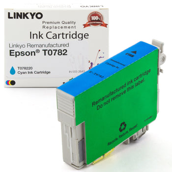 LINKYO Replacement Cyan Ink Cartridge for Epson 78 (T078220)