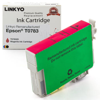 LINKYO Replacement Magenta Ink Cartridge for Epson 78 (T078320)