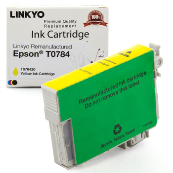 LINKYO Replacement Yellow Ink Cartridge for Epson 78 (T078420)