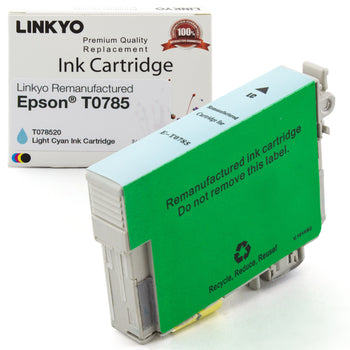 LINKYO Replacement Light Cyan Ink Cartridge for Epson 78 (T078520)