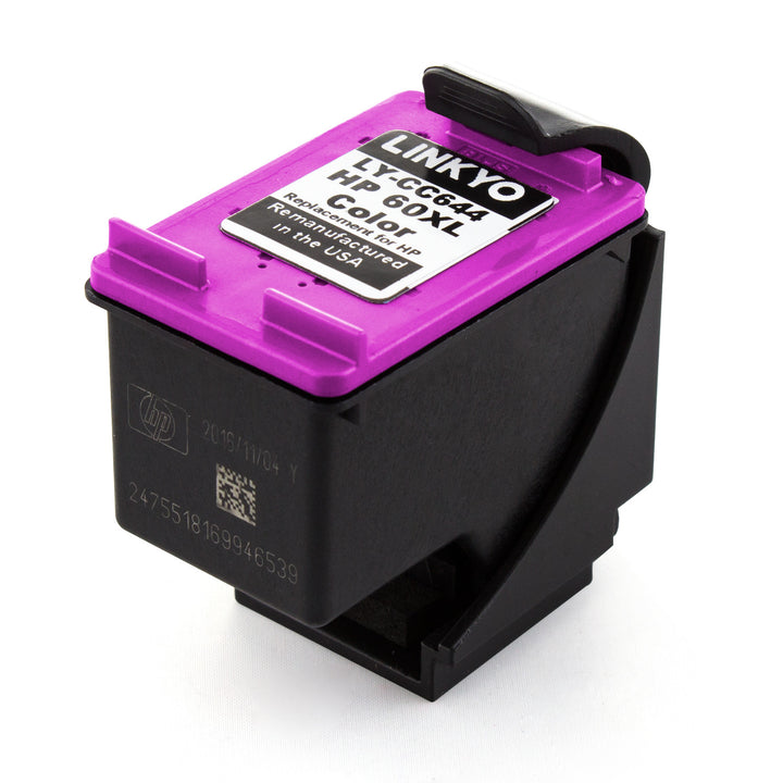 LINKYO Replacement Tri-Color Ink Cartridge for HP 60XL
