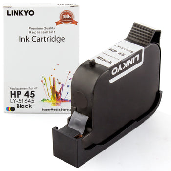 LINKYO Replacement Black Ink Cartridge for HP 45