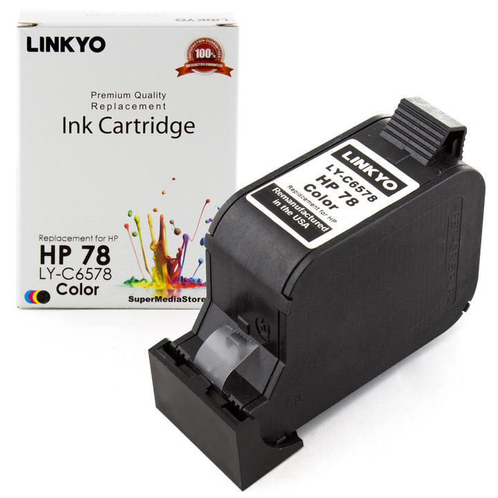 LINKYO Replacement Tri-Color Ink Cartridge for HP 78