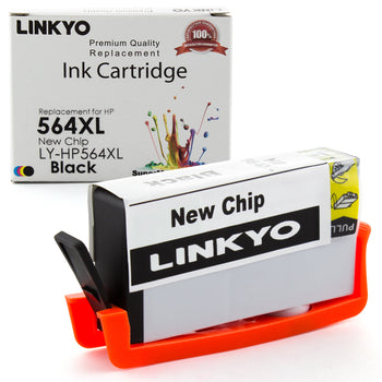 LINKYO Replacement Black Ink Cartridge for HP 564XL