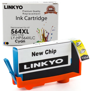 LINKYO Replacement Cyan Ink Cartridge for HP 564XL