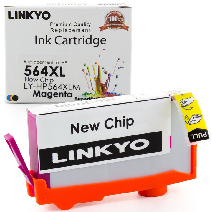 LINKYO Replacement Magenta Ink Cartridge for HP 564XL