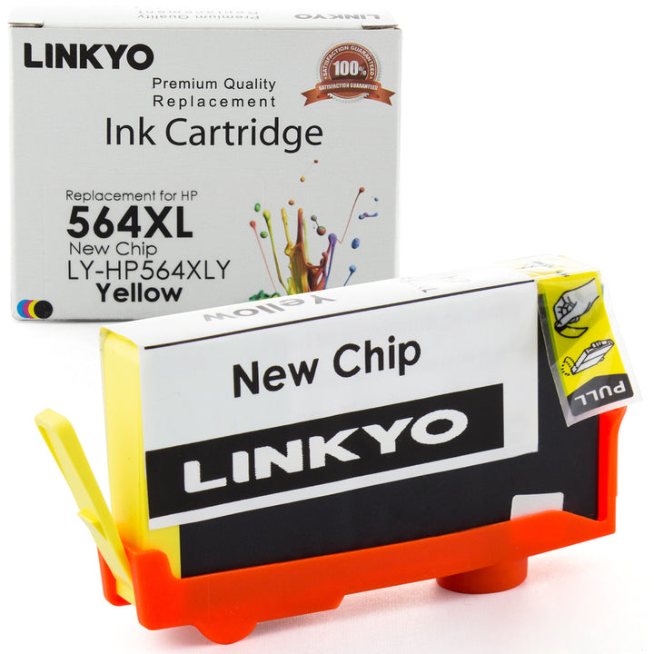 LINKYO Replacement Yellow Ink Cartridge for HP 564XL