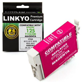LINKYO Replacement Magenta Ink Cartridge for Epson 125 (T125320)