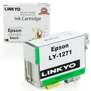 LINKYO Replacement Black Ink Cartridge for Epson 127 (T127120)
