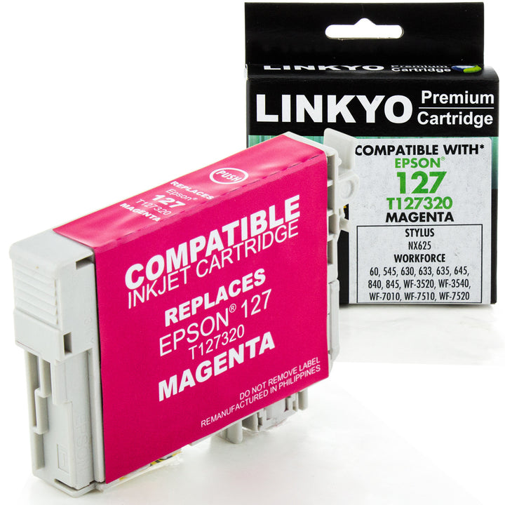 LINKYO Replacement Magenta Ink Cartridge for Epson 127 (T127320)