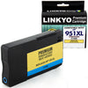 LINKYO Replacement Cyan Ink Cartridge for HP 951XL