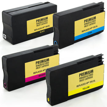 LINKYO Replacement Color Ink Cartridge Set for HP 950XL 951XL (Black, Cyan, Magenta, Yellow, 4-Pack)