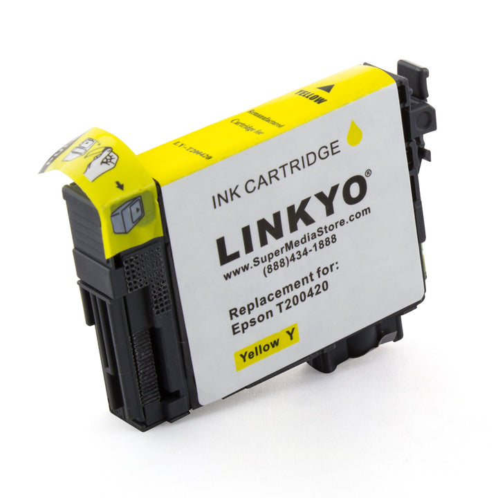 LINKYO Replacement Yellow Ink Cartridge for Epson 200 (T200420)