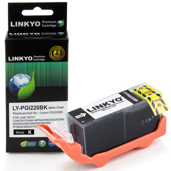 LINKYO Replacement Black Ink Cartridge for Canon PGI-220