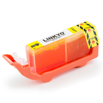 LINKYO Replacement Yellow Ink Cartridge for Canon CLI-221