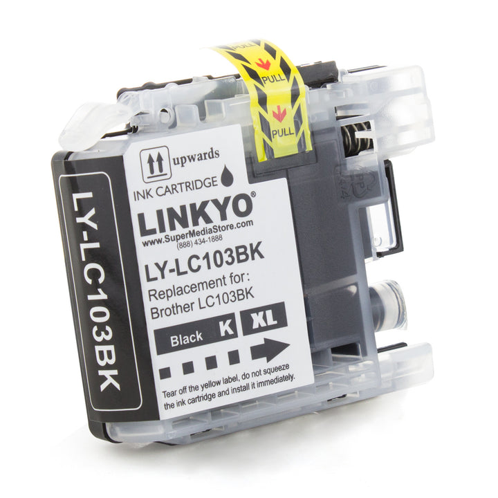 LINKYO Replacement Black Ink Cartridge for Brother LC103BK