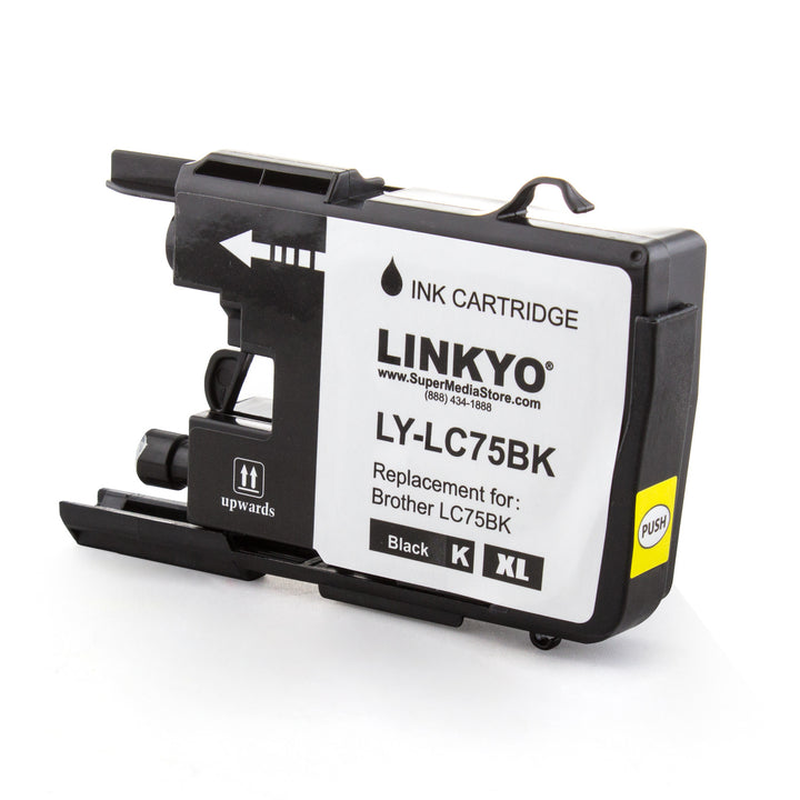 LINKYO Replacement Black Ink Cartridge for Brother LC75BK