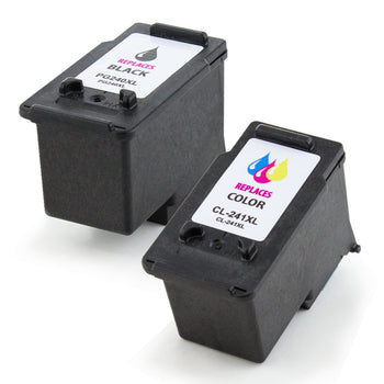 LINKYO Replacement 2-Color Ink Cartridge Set for Canon PG-240XL CL-241XL (Black, Color)