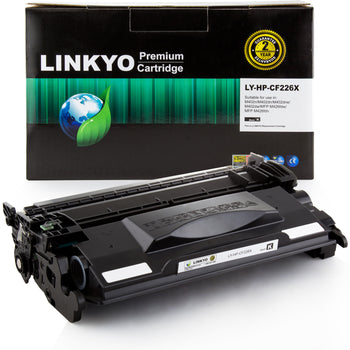 LINKYO Replacement for HP 26X CF226X High Yield Toner Cartridge (Black)