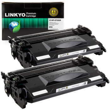 LINKYO Replacement for HP 26X CF226X High Yield Toner Cartridges (Black, 2-Pack)
