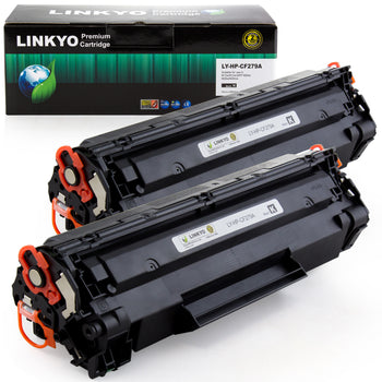 LINKYO Replacement HP 79A CF279A Toner Cartridges (Black, 2-Pack)