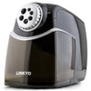 LINKYO Classroom Electric Pencil Sharpener (Black, Gray)