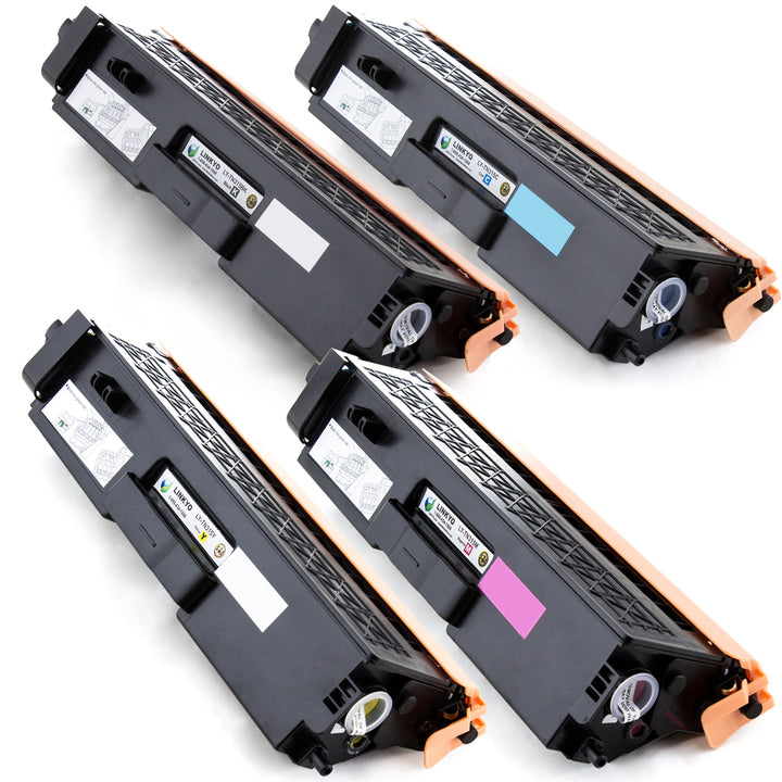 LINKYO Replacement 4-Color Toner Set for Brother TN315 (Black, Cyan, Magenta, Yellow)