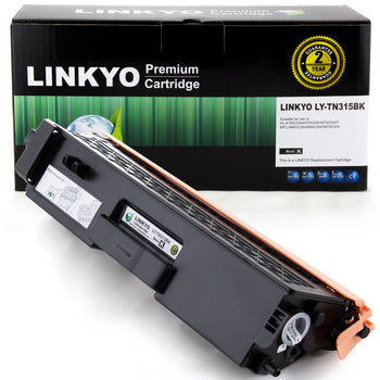 LINKYO Replacement Black Toner Cartridge for Brother TN315BK