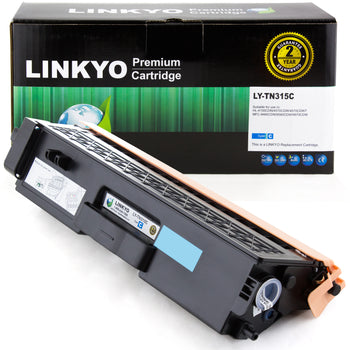 LINKYO Replacement Cyan Toner Cartridge for Brother TN315C