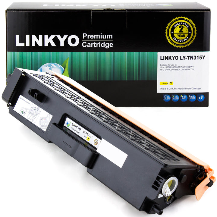 LINKYO Replacement Yellow Toner Cartridge for Brother TN315Y