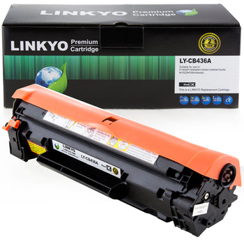 LINKYO Replacement Black Toner Cartridge for HP 36A CB436A