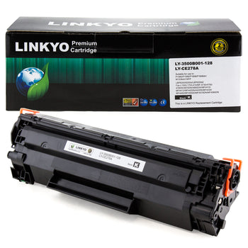 LINKYO Replacement Black Toner Cartridge for Canon 128