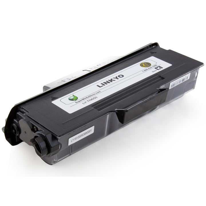 LINKYO Replacement Black Toner Cartridge for Brother TN620 (FREE Upgrade to High Yield TN650)