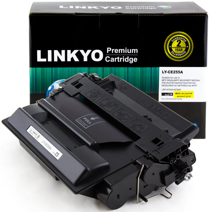 LINKYO Replacement Black Toner Cartridge for HP 55A CE255A