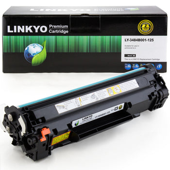 LINKYO Replacement Black Toner Cartridge for Canon 125