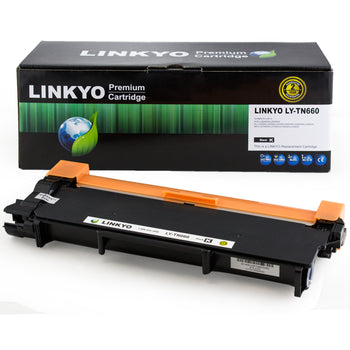 LINKYO Replacement Black Toner Cartridge for Brother TN630 (FREE Upgrade to High Yield TN660)