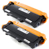 LINKYO Compatible Toner Cartridge and Drum Unit Set Replacement for Brother TN450 TN-450 DR420 DR-420 (2 Toner Cartridges, 1 Drum Unit)