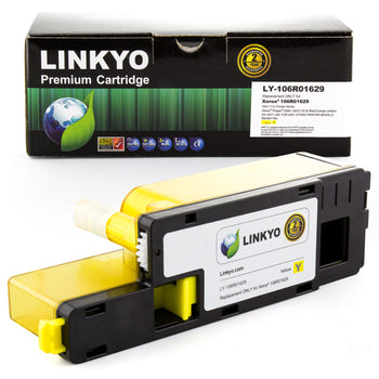 LINKYO Replacement Yellow Toner Cartridge for Xerox 6015 6010