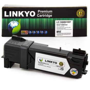 LINKYO Replacement Black Toner Cartridge for Xerox 6505 6500