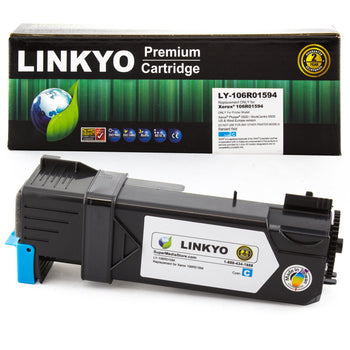 LINKYO Replacement Cyan Toner Cartridge for Xerox 6505 6500