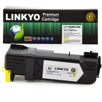 LINKYO Replacement Yellow Toner Cartridge for Xerox 6505 6500