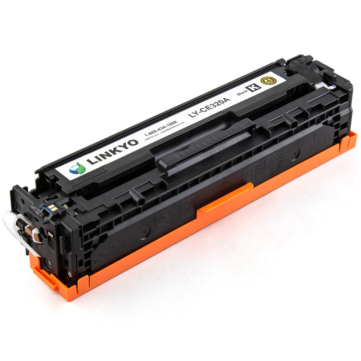 LINKYO Replacement Black Toner Cartridge for HP 128A CE320A