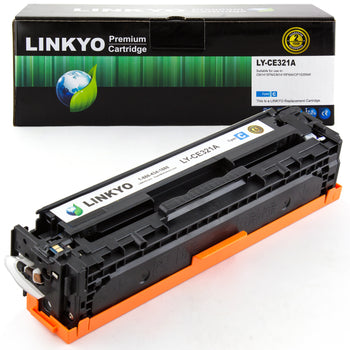 LINKYO Replacement Cyan Toner Cartridge for HP 128A CE321A
