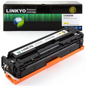 LINKYO Replacement Yellow Toner Cartridge for HP 128A CE322A