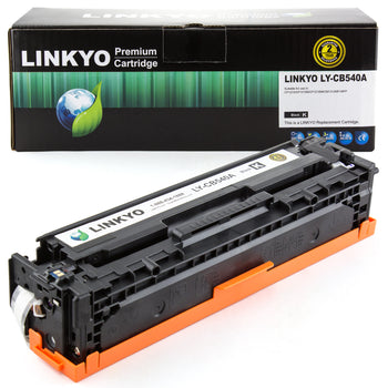 LINKYO Replacement Black Toner Cartridge for HP 125A CB540A