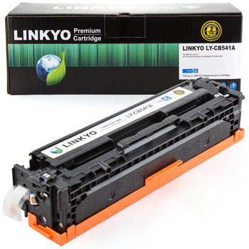 LINKYO Replacement Cyan Toner Cartridge for HP 125A  CB541A