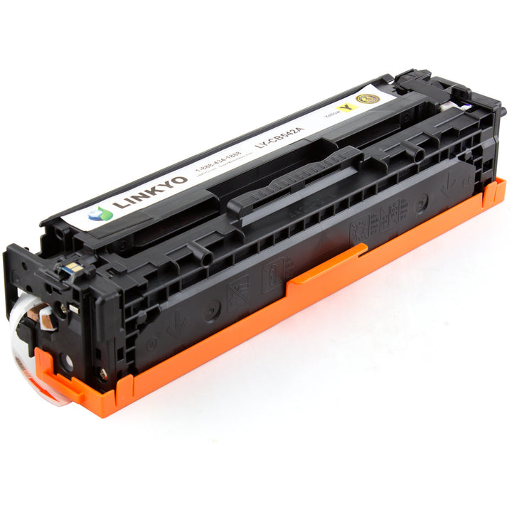 LINKYO Replacement Yellow Toner Cartridge for HP 125A CB542A