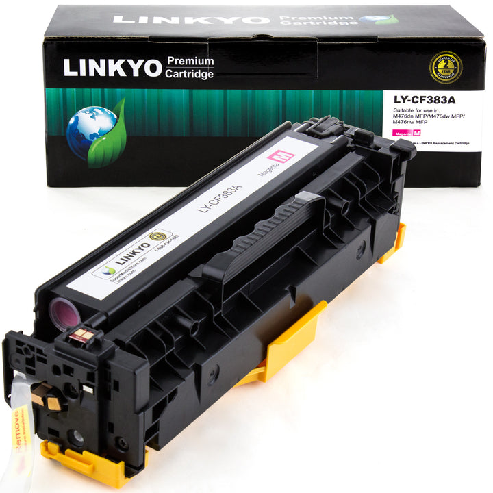 LINKYO Replacement Magenta Toner Cartridge for HP 312A CF383A